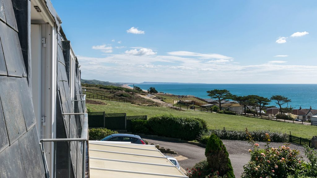View from Hardy Studio Apartment at Chesil Beach Lodge