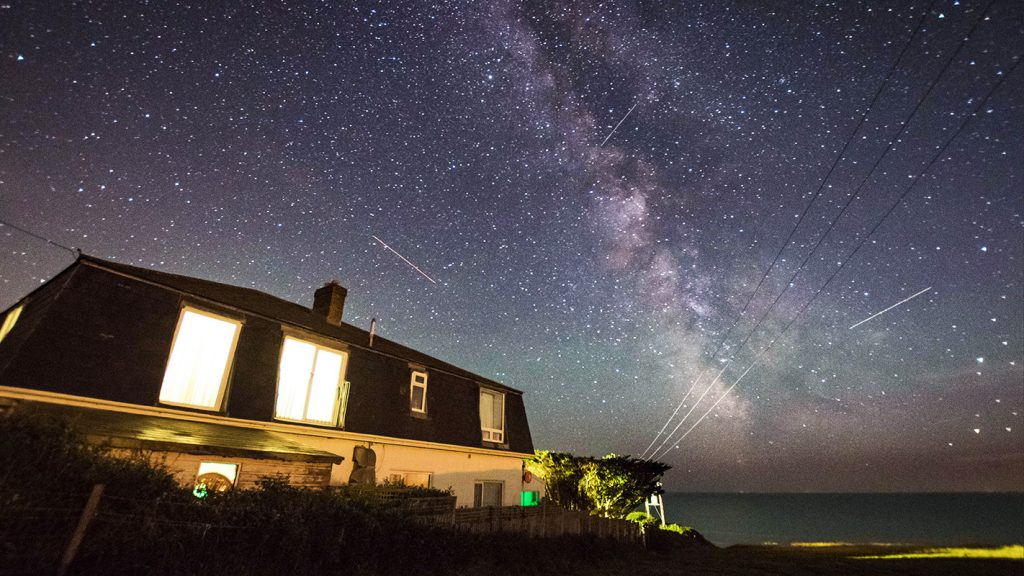 Milky Way over Chesil Beach Lodge in Dorset