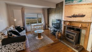 Lounge in Fossil Apartment - Self Catering Holidays in Dorset