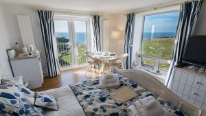 Golden Cap Suite interior - Bed and Breakfast in Dorset