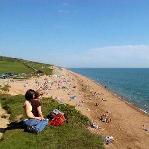 Holidays in Dorset - Summer at Burton Bradstock Beach