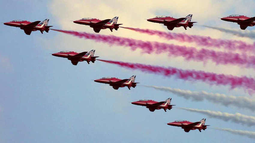 Red Arrows in Dorset